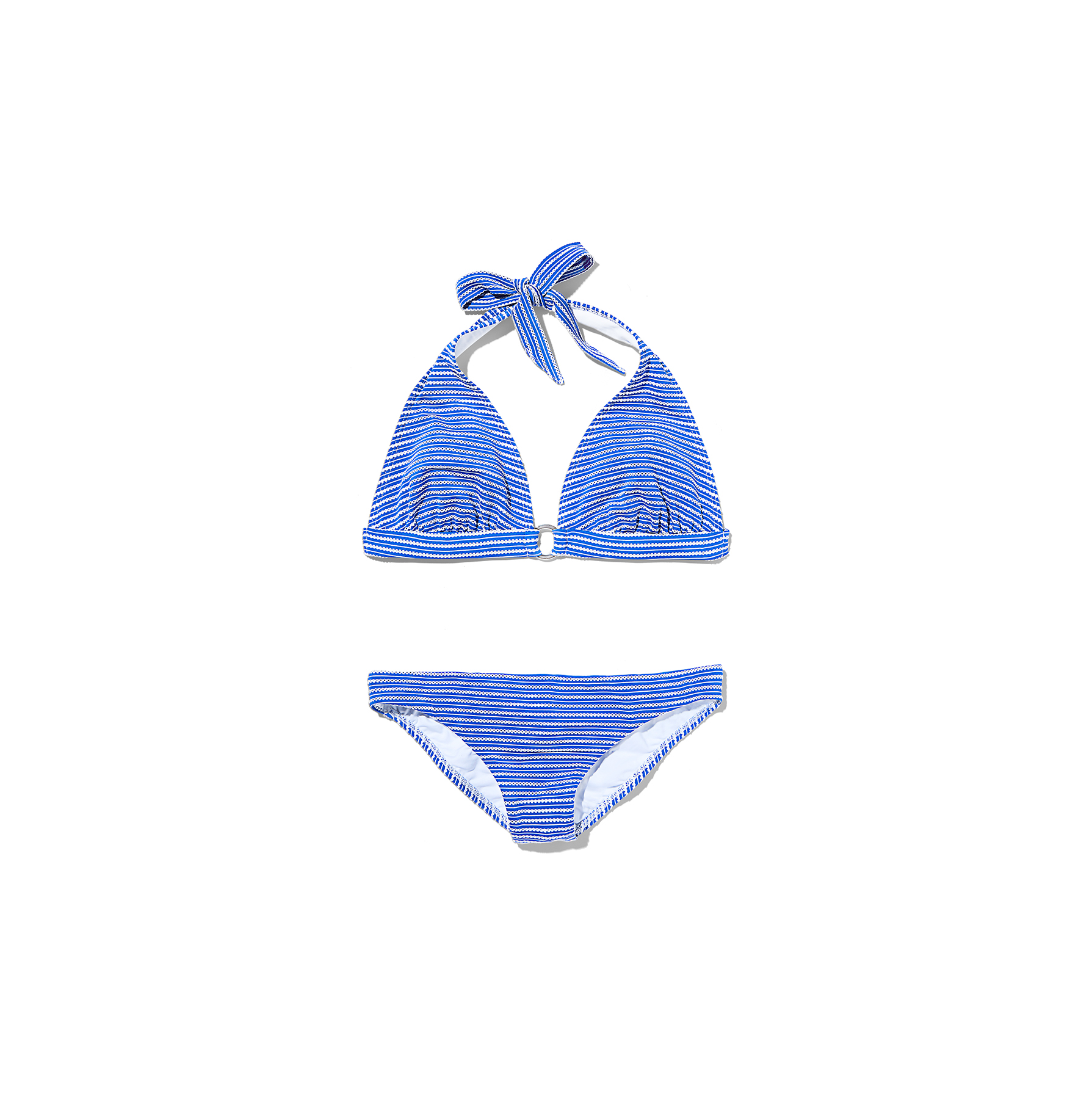 Shoshanna Striped Ring Halter Bikini