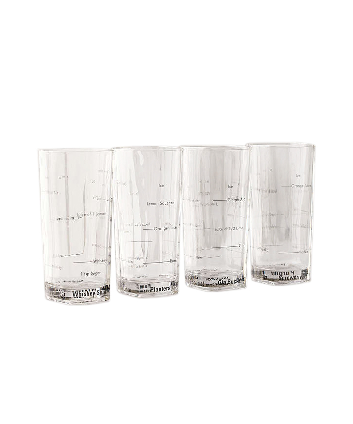 Bartending Drinking Glass Set
