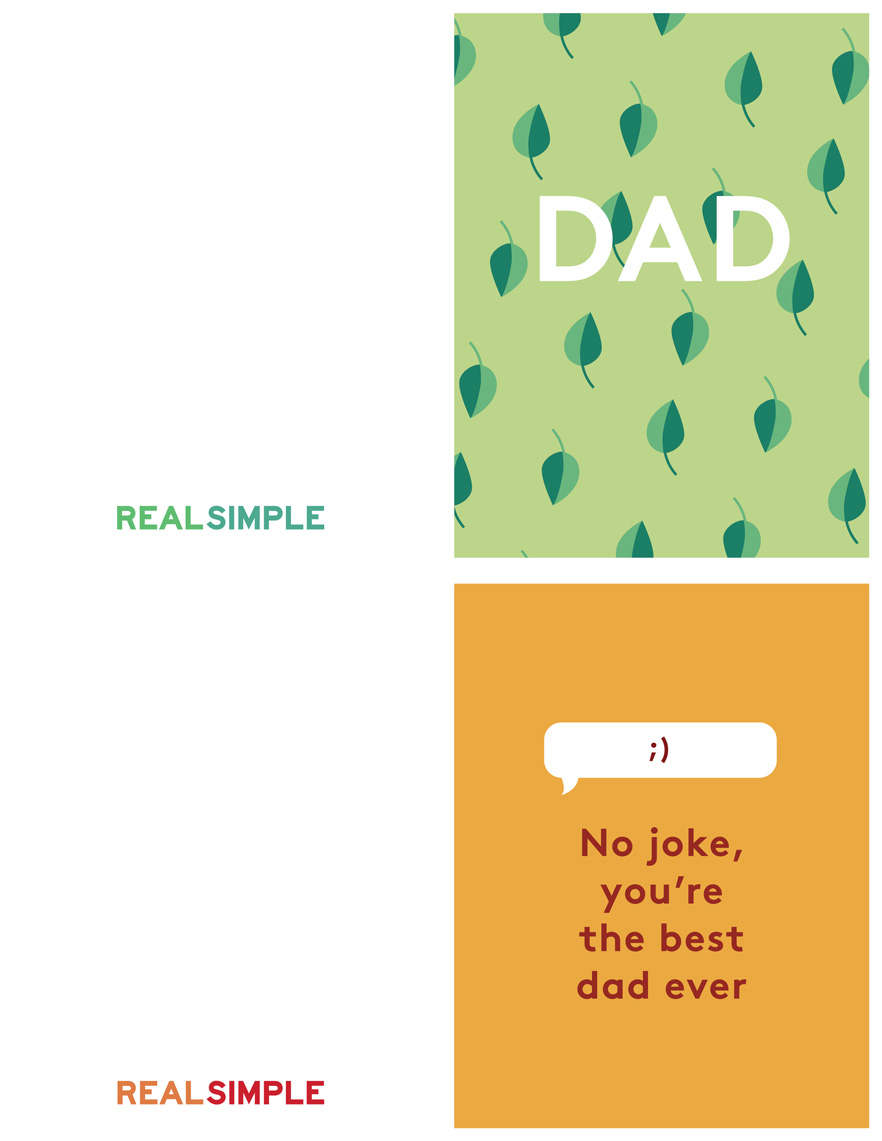 Father's Day Printable Cards