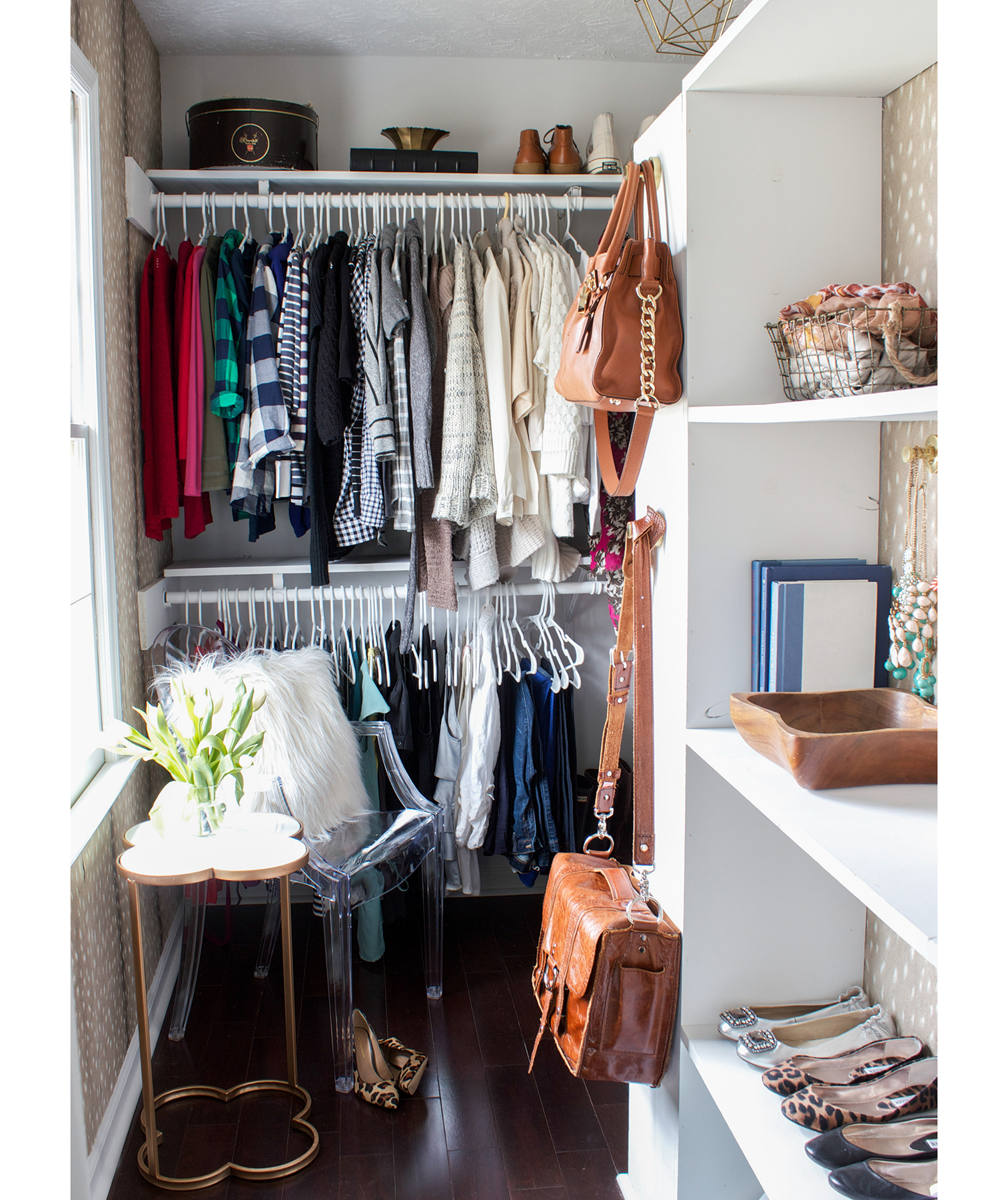 simple walk in closet