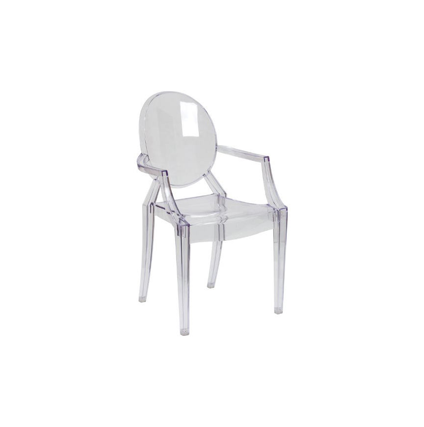 Flash Furniture Ghost Chair with Arms