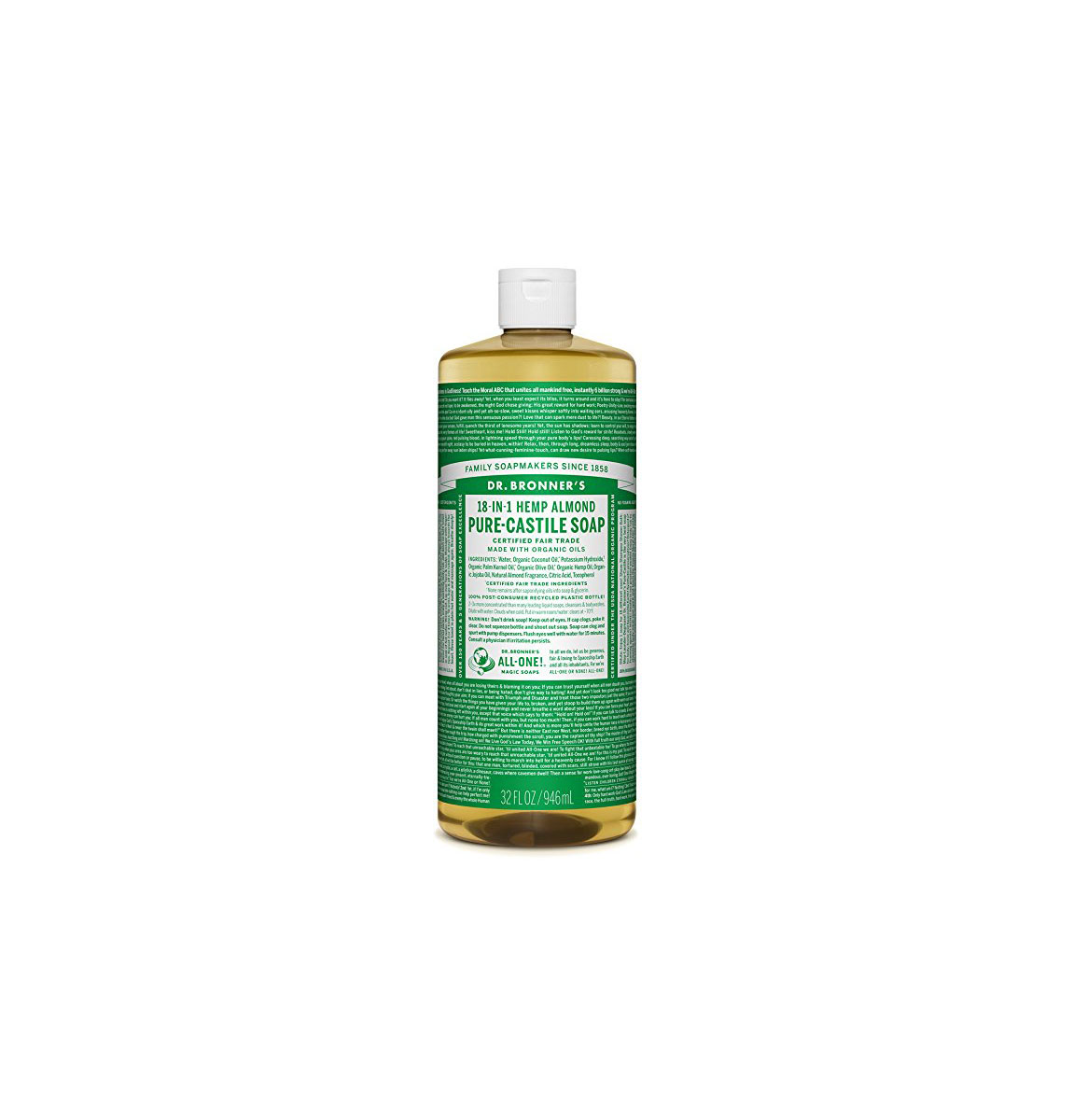 Dr. Bronner's 18-in-1 Pure-Castile Liquid Soap
