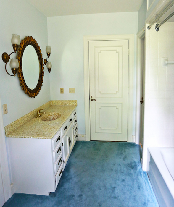 A Beautiful Mess bathroom before
