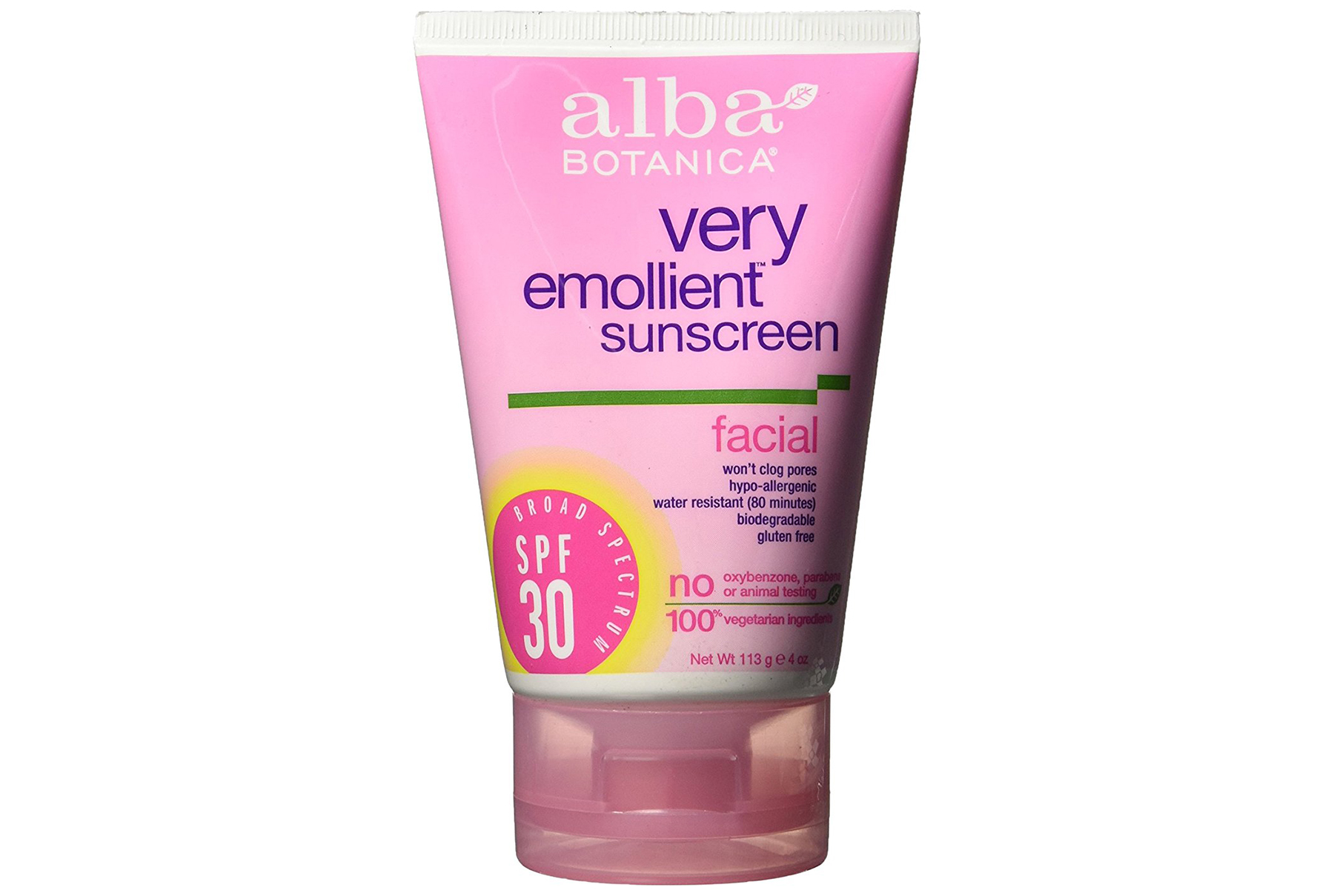 Alba Botanica Very Emollient Sunscreen Facial, SPF 30