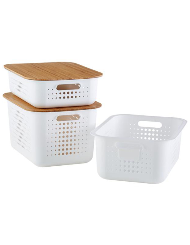The Container Store White Nordic Storage Basket