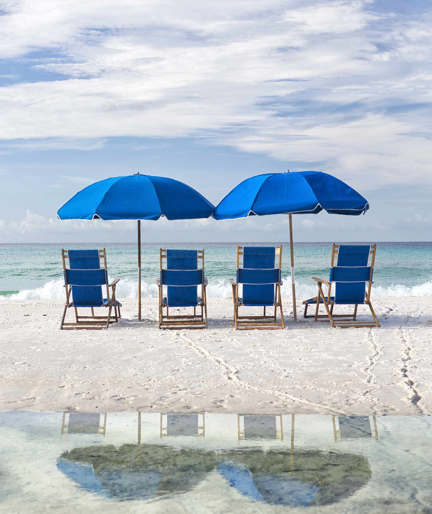 Beach chairs in Destin, Florida