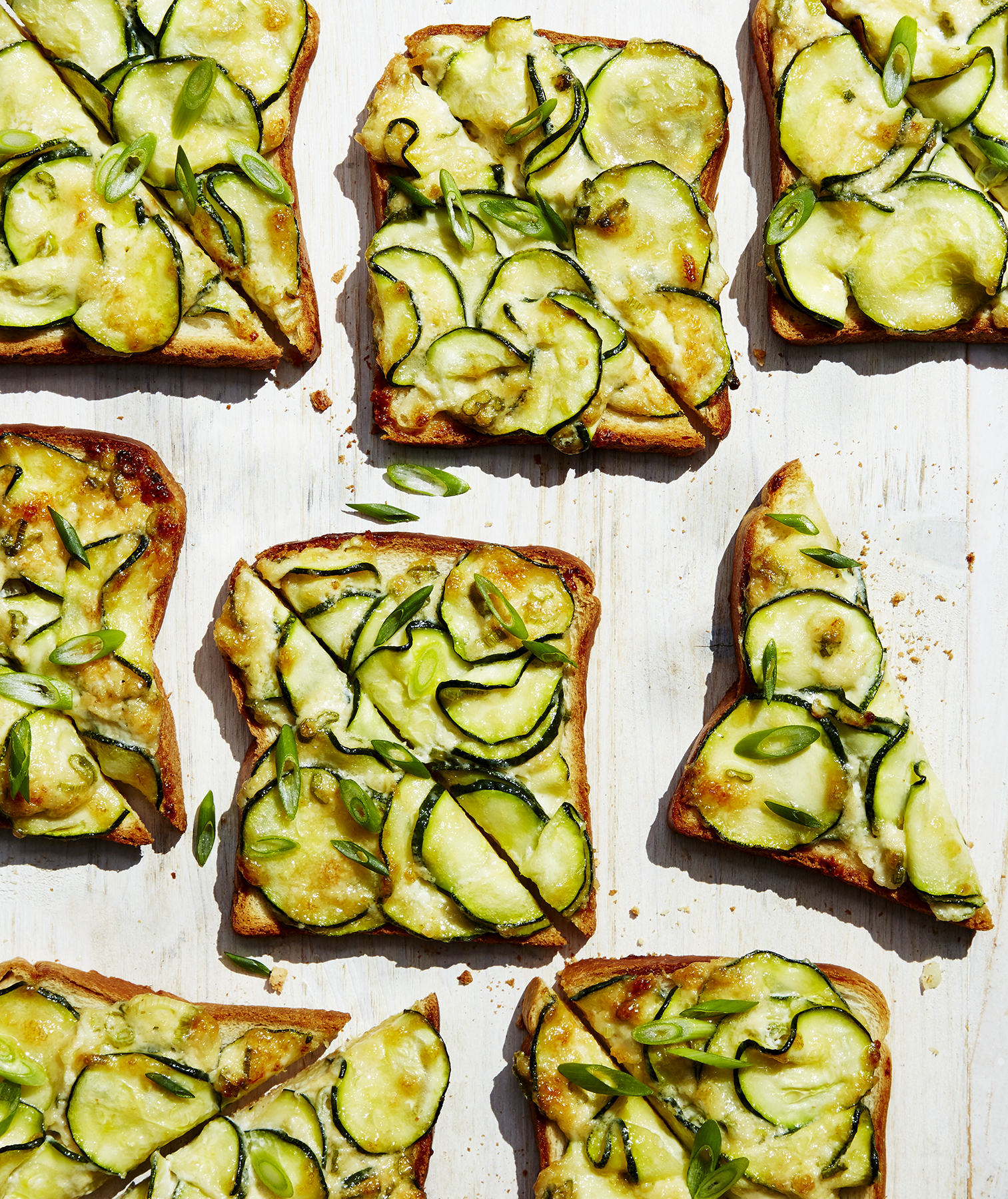 Creamy Zucchini Toasts | Real Simple