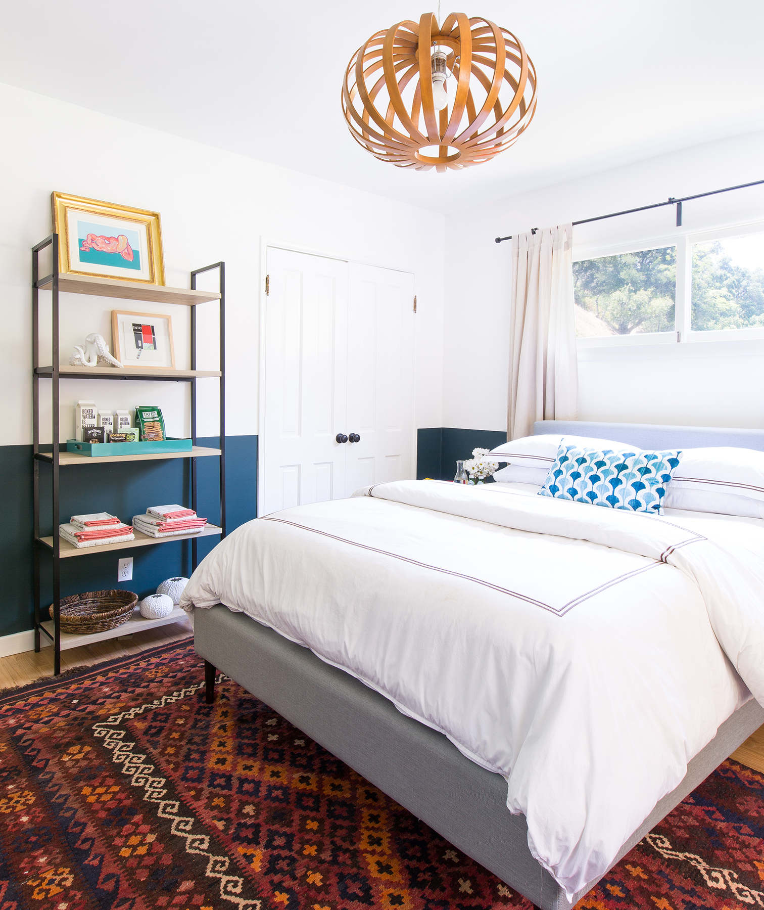 Bedroom with summer season accents