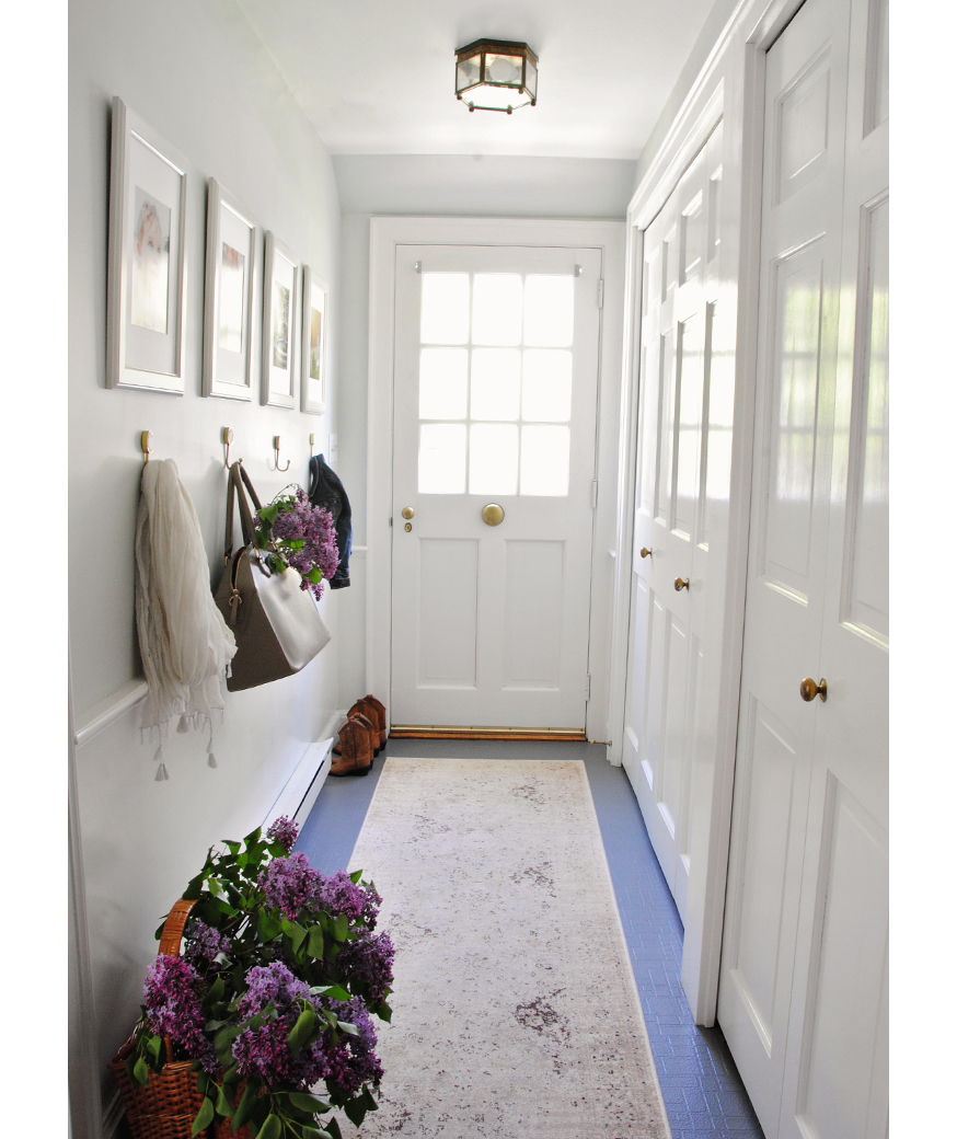 Hallway with paint makeover