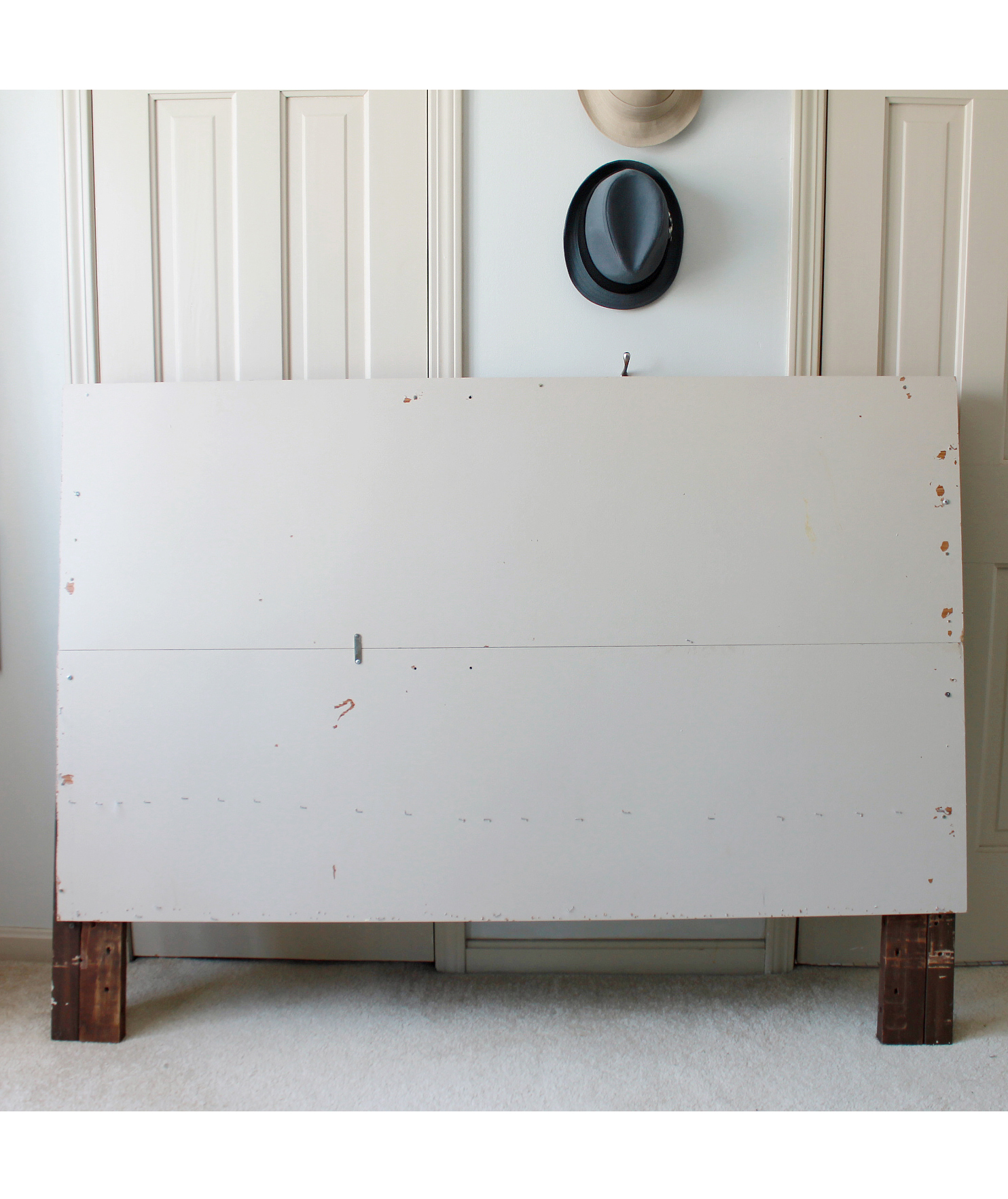 Old bed headboard