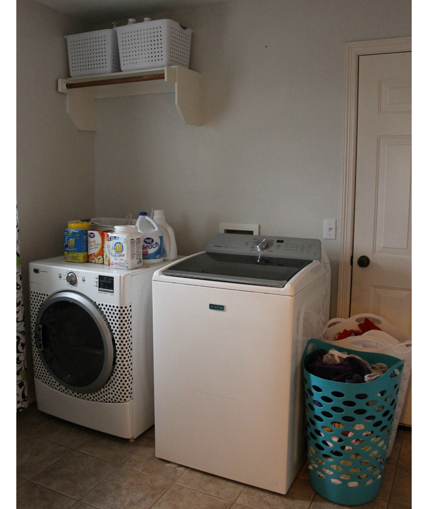 Laundry room with limited storage