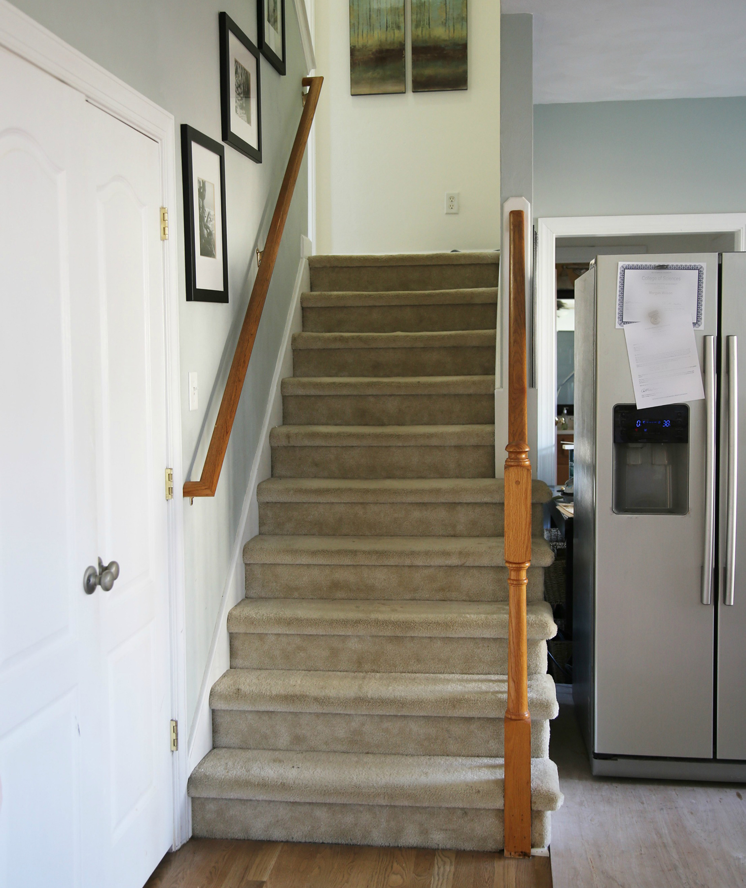 The Problem A Dingy Carpeted Staircase. 9 Easy Home Improvements Under 100  Real Simple