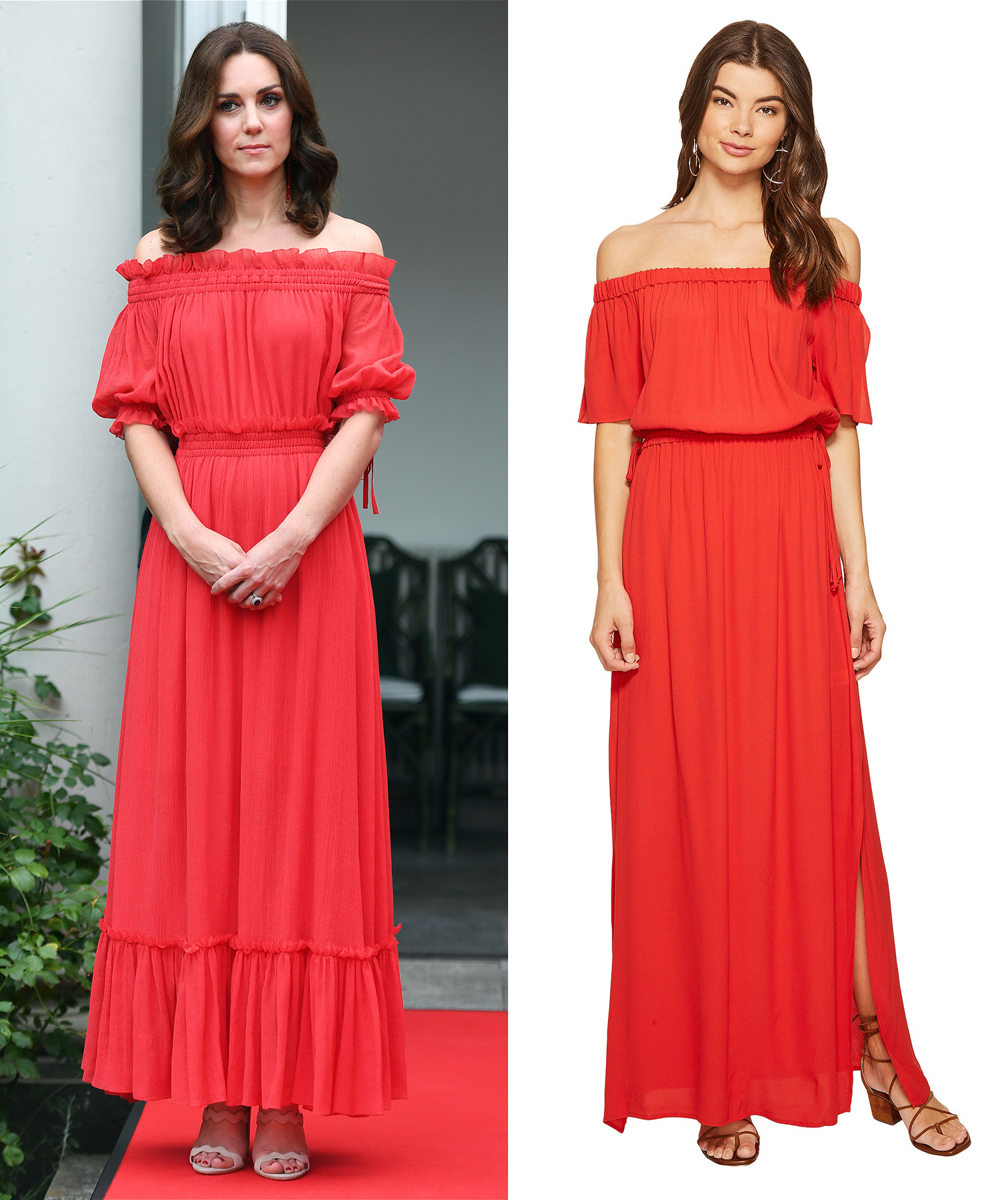 Kate Middleton red dress get the look