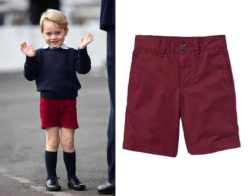prince george red shorts