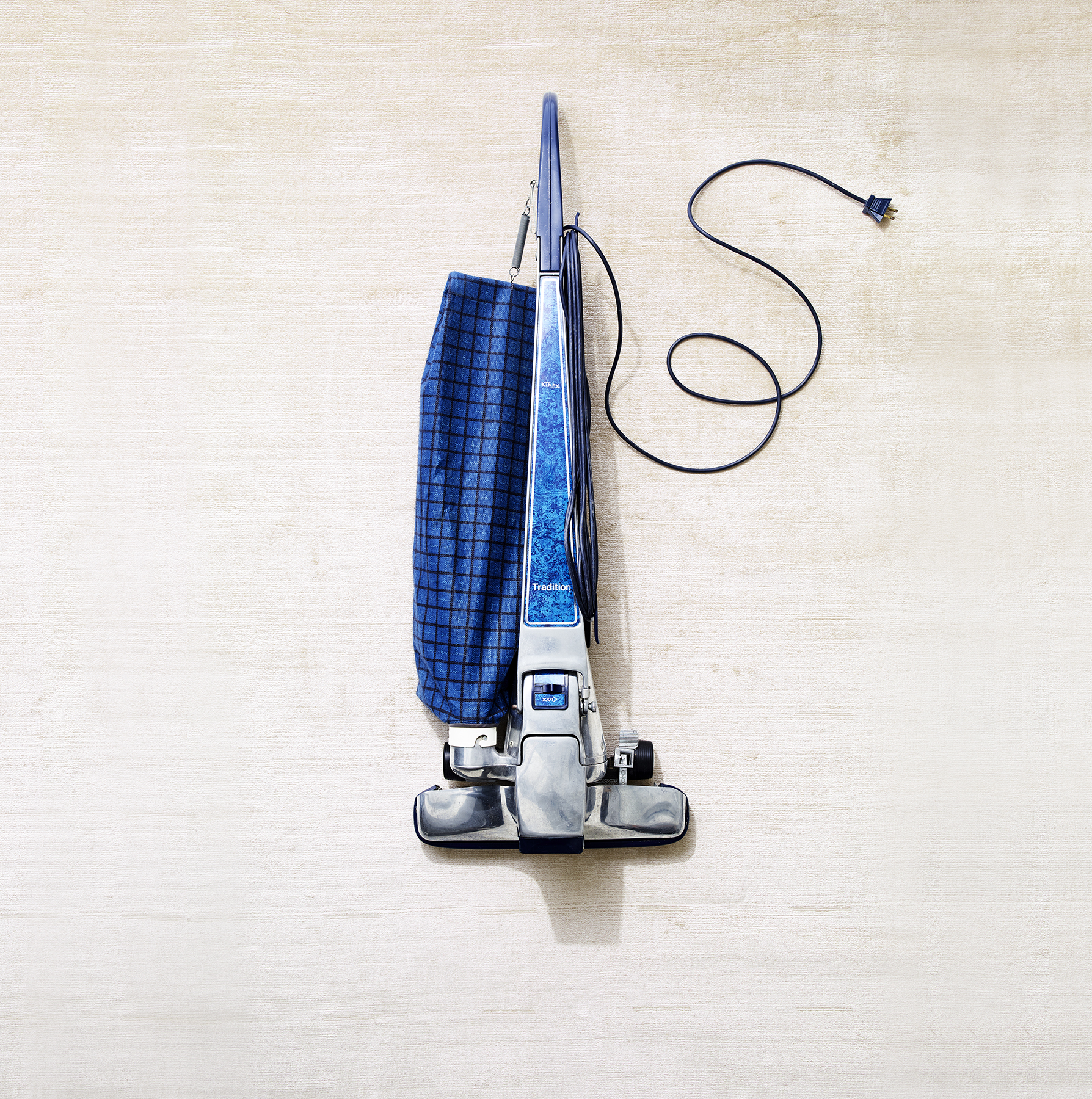 Blue upright vacuum cleaner