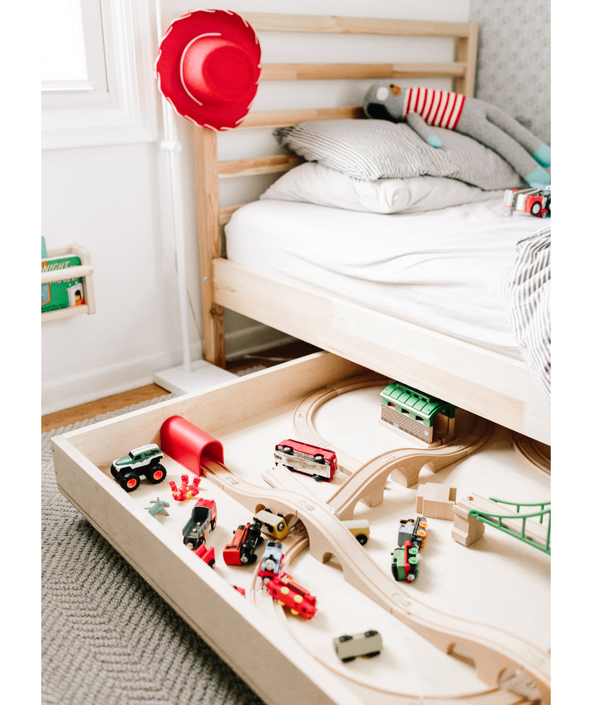 Racetrack under kid's bed