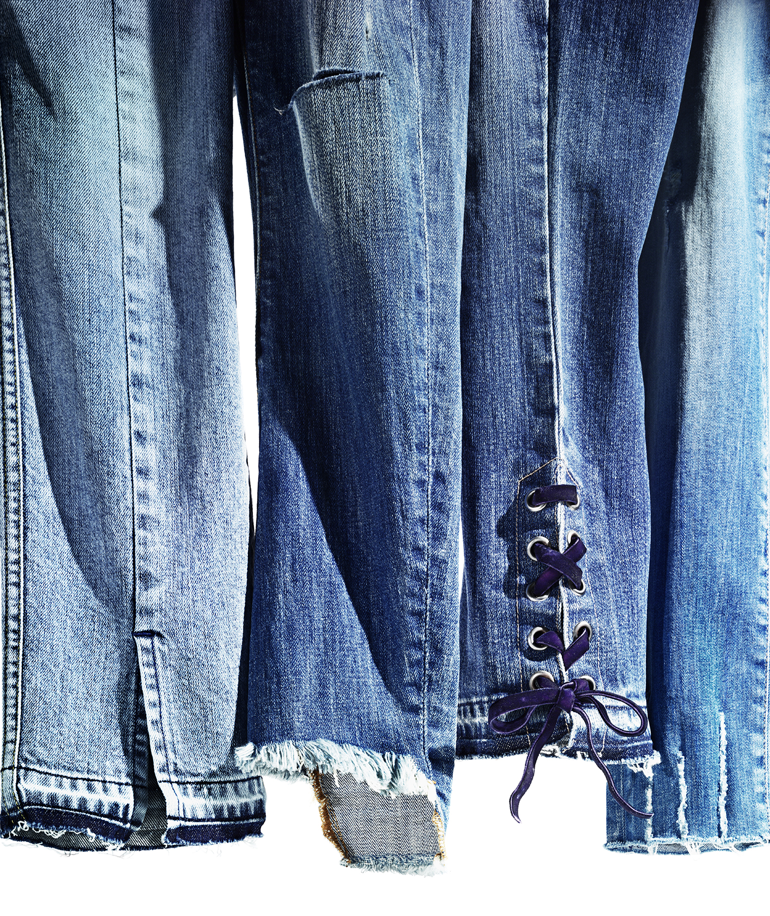 Jeans with funky hems