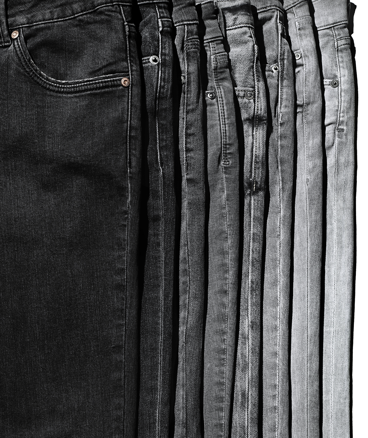 Jeans in shades of gray