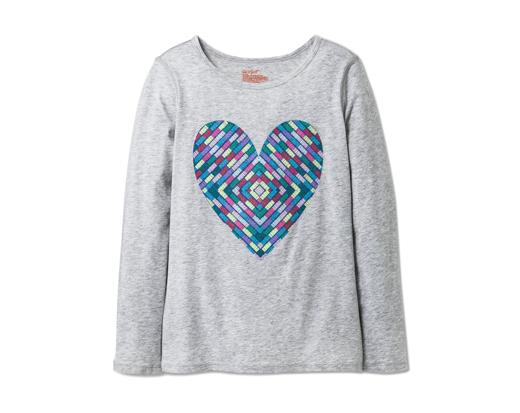 Sensory Friendly Hearts Printed Long Sleeve T-Shirt