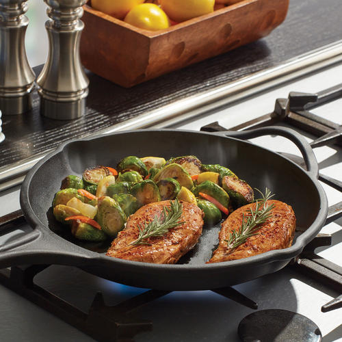 ThisLine of Cast-Iron Pans Is Pre-Seasoned and Dishwasher Safe