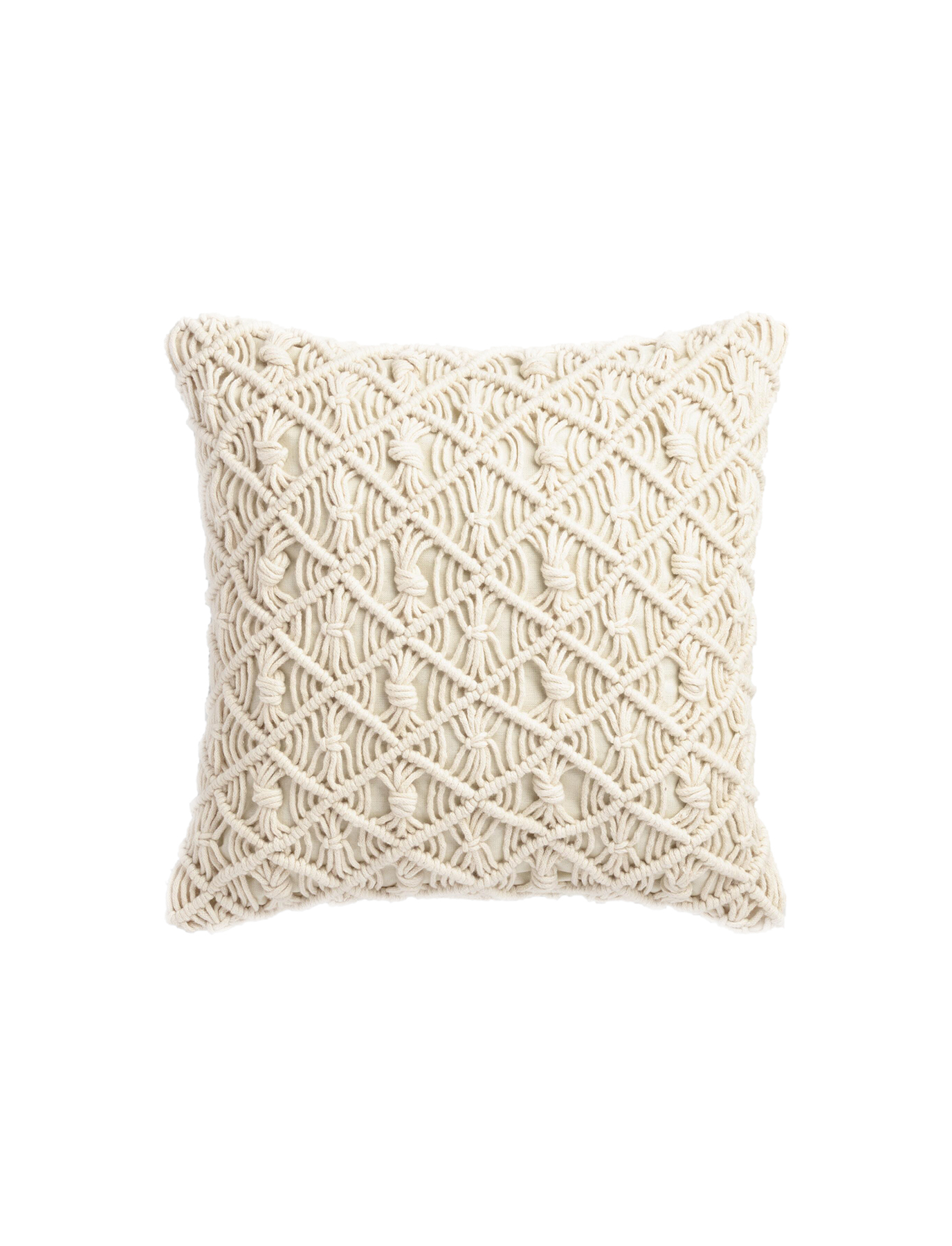 Jali Macramé Indoor-Outdoor Throw Pillow