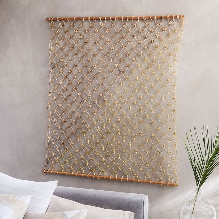 Metallic Macramé Wall Hanging