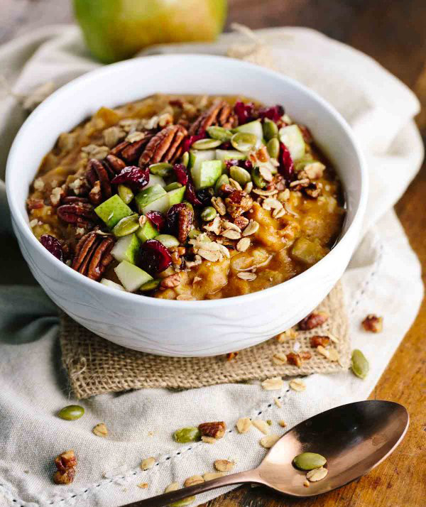 Pumpkin Slow Cooker Steel Cut Oatmeal