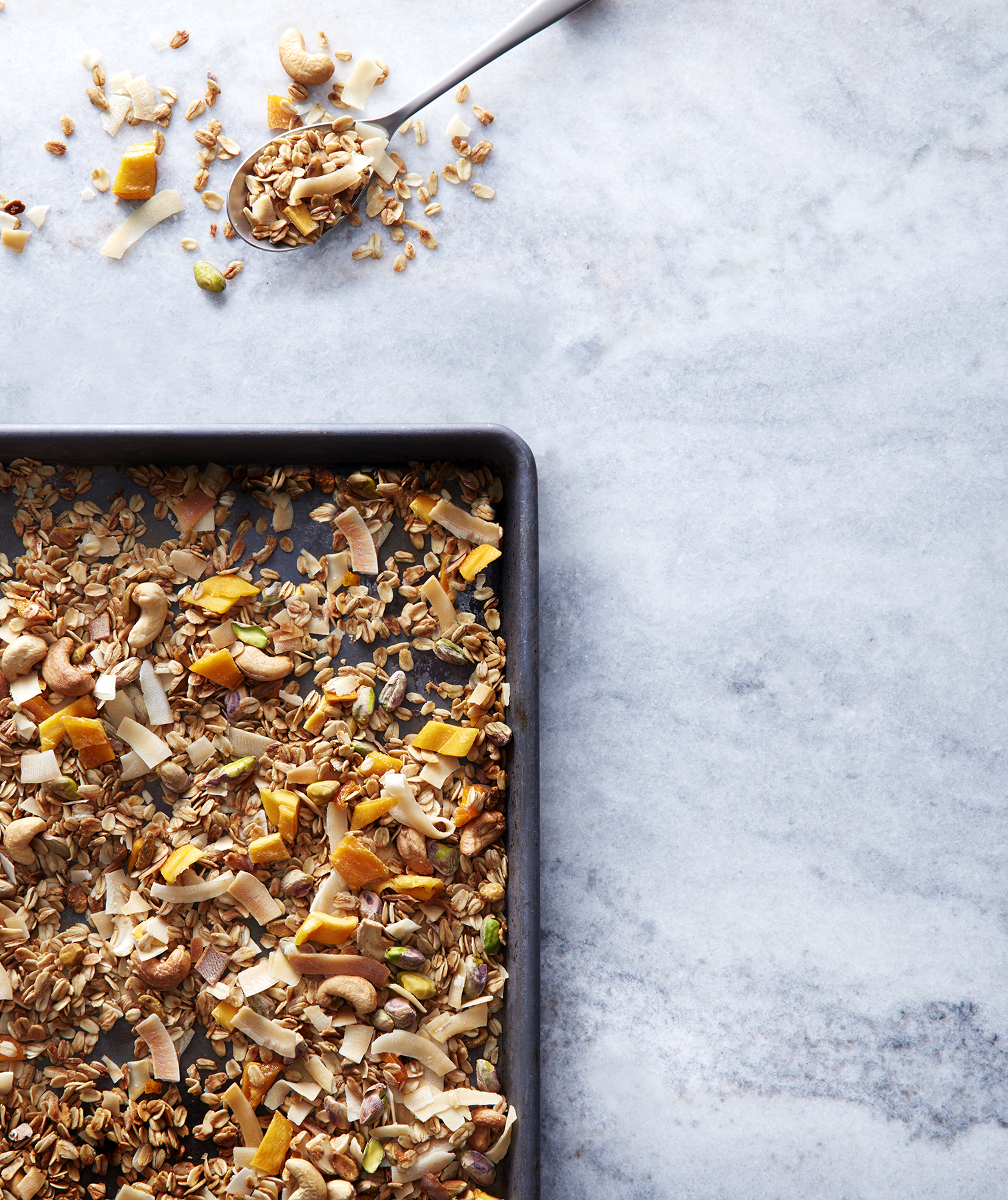Coconut-Cashew Granola With Mango and Pistachios