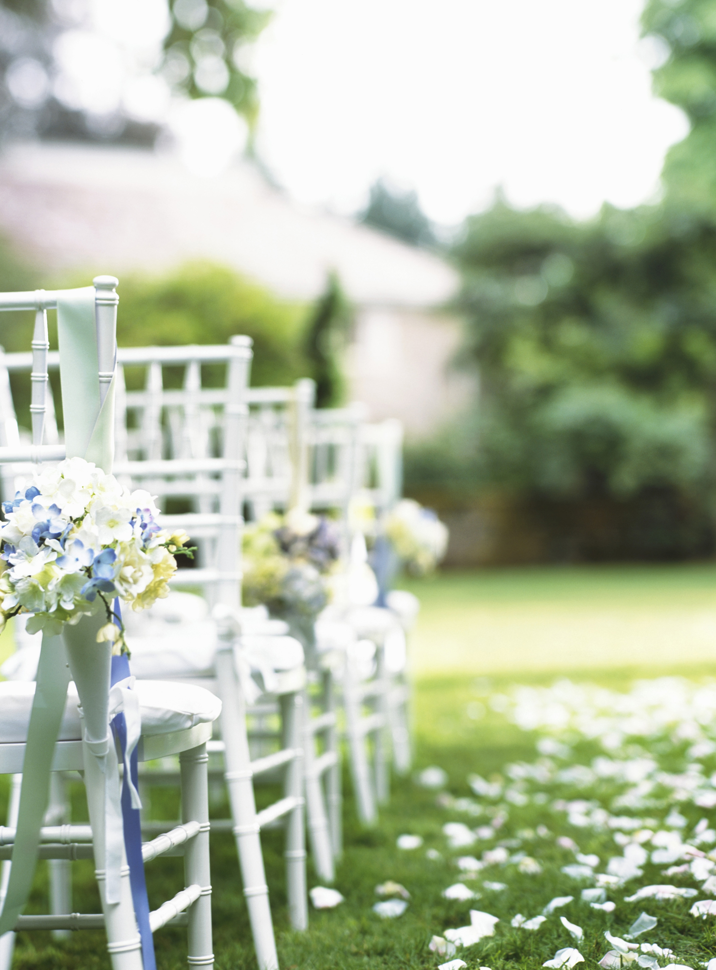 11 little tricks for a stress free wedding day real simple chairs at wedding junglespirit Image collections