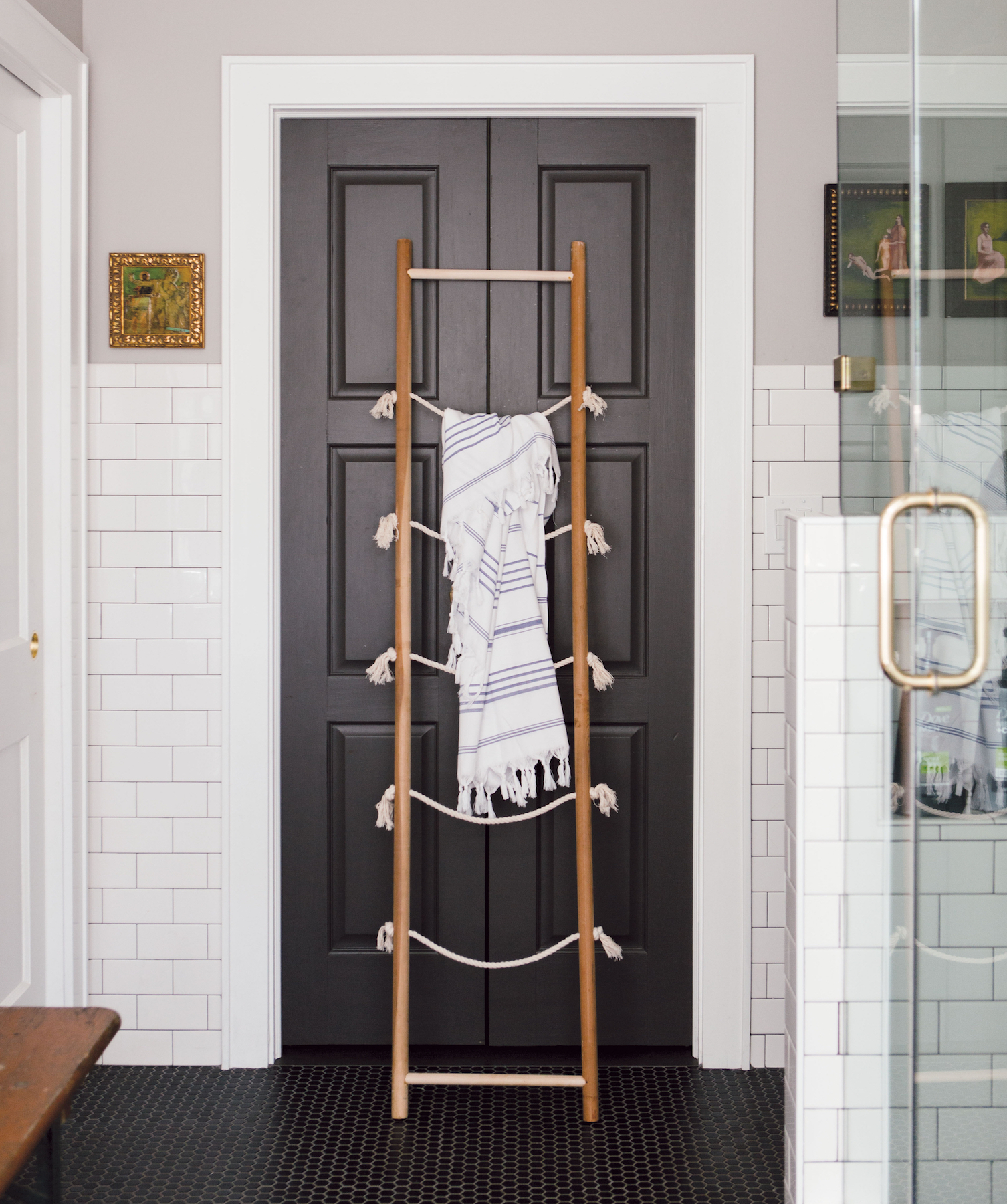 diy storage ladder this diy organizing storage ladder was made for small spaces