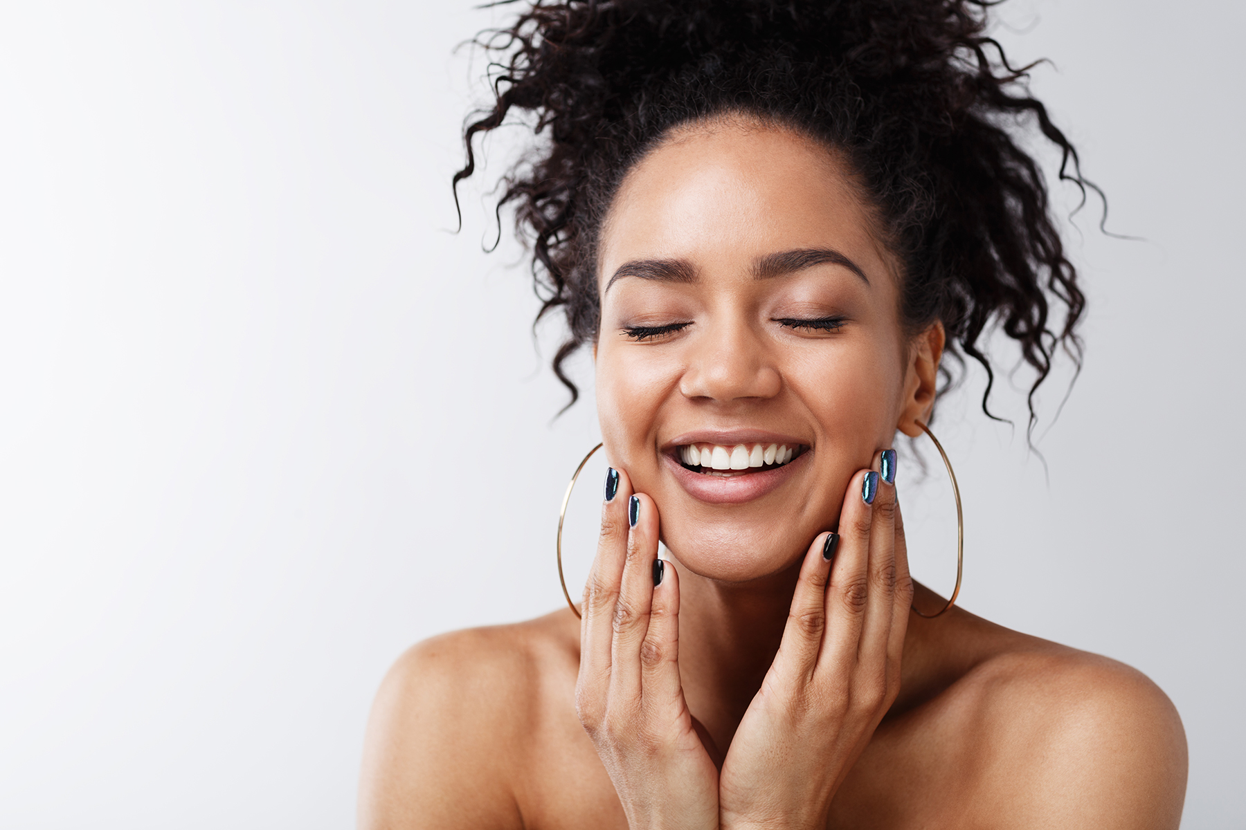 Happy woman with healthy skin