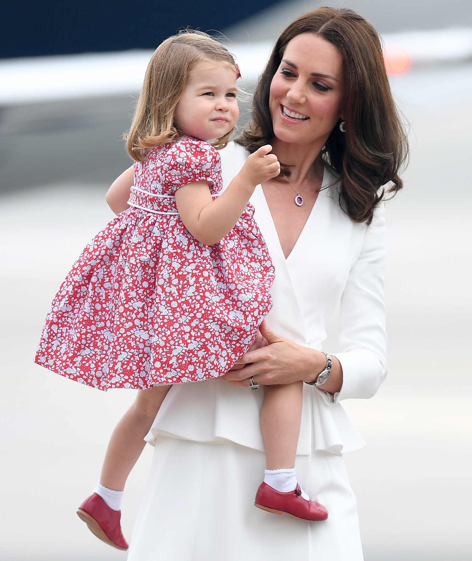 Princess Charlotte in floral dress