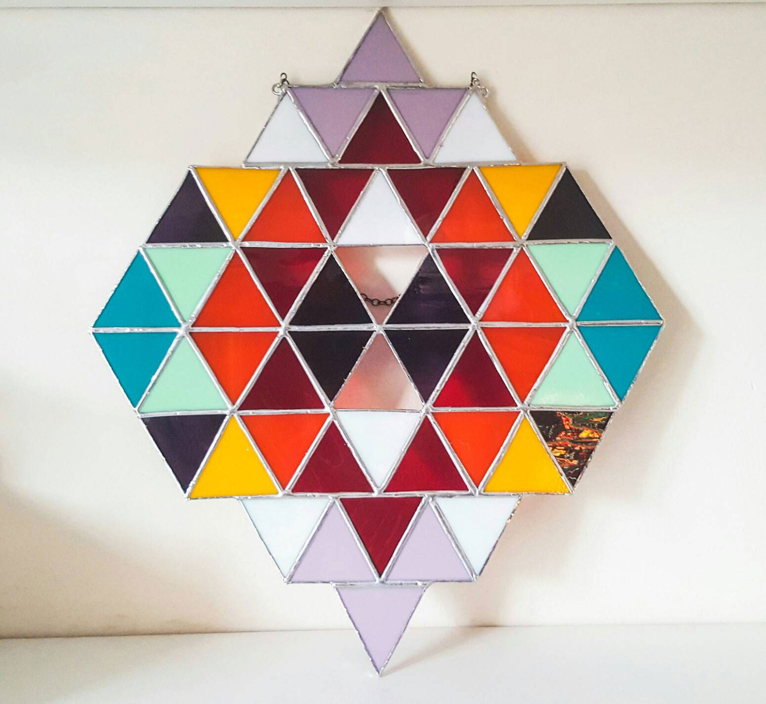 Large Geometric Glass Art