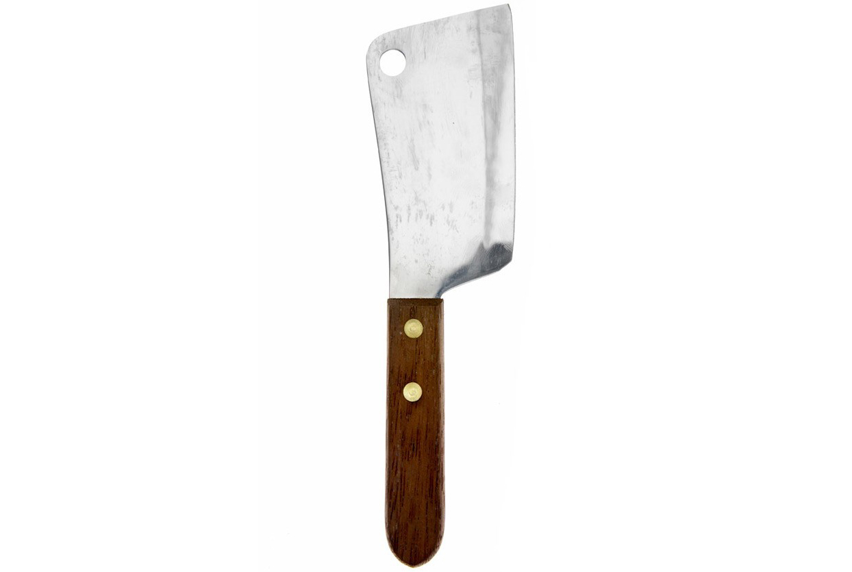 Wood Handled Cheese Cleaver
