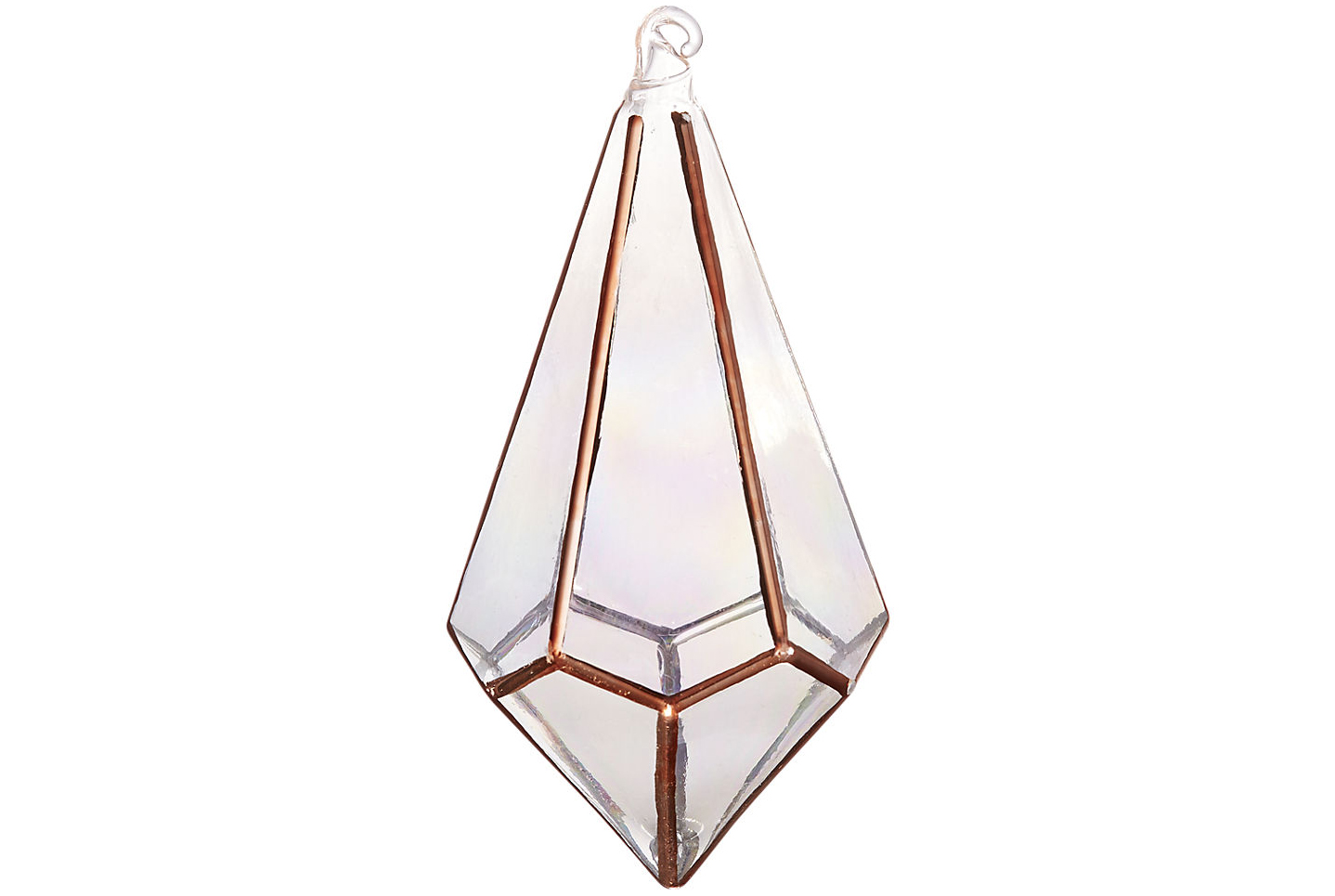 Metallic Copper Drop Ornament
