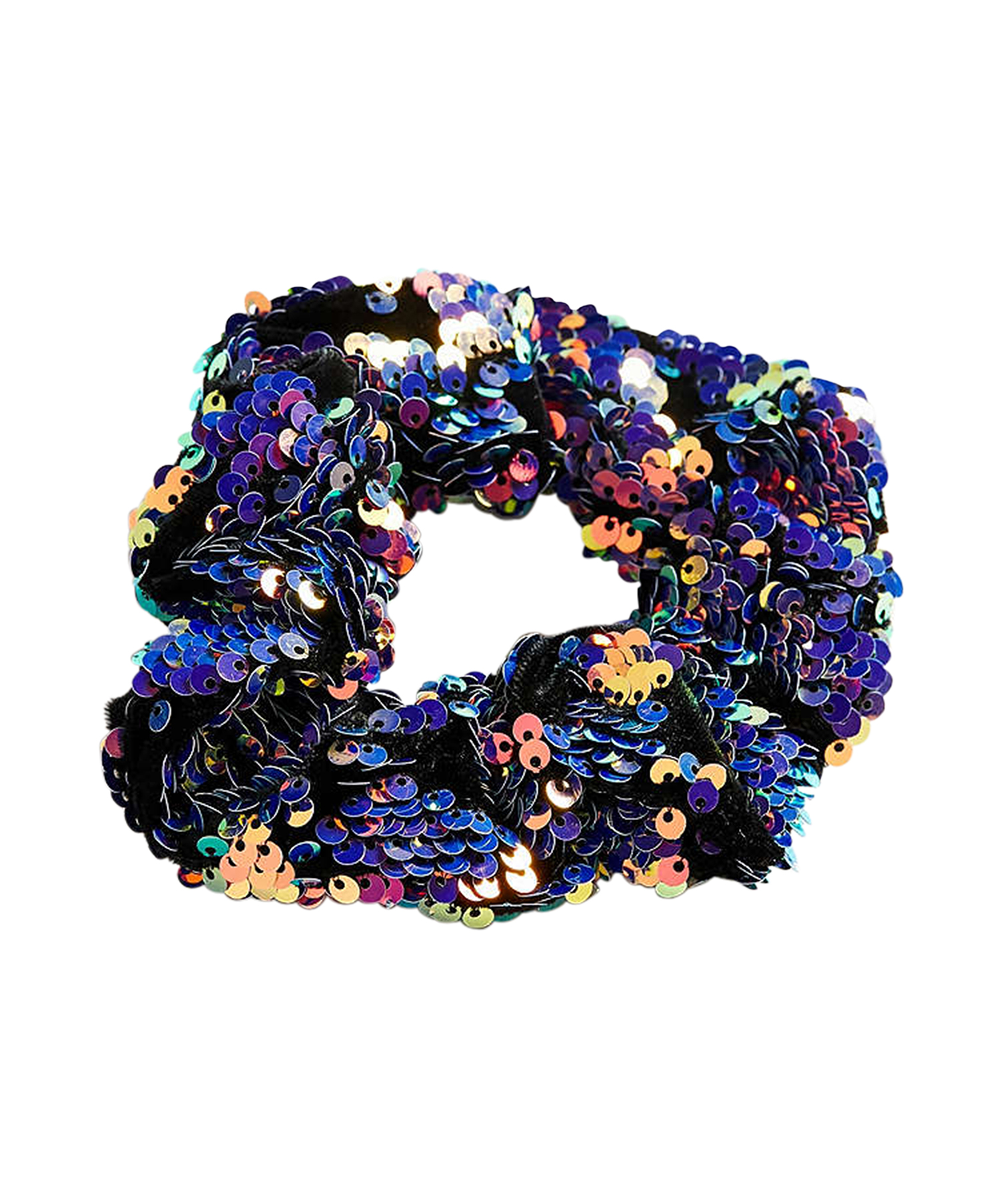 Velvet Sequin Scrunchie