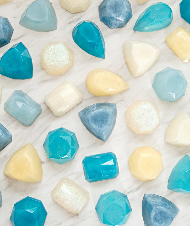 Melt and Pour Gemstone Soaps