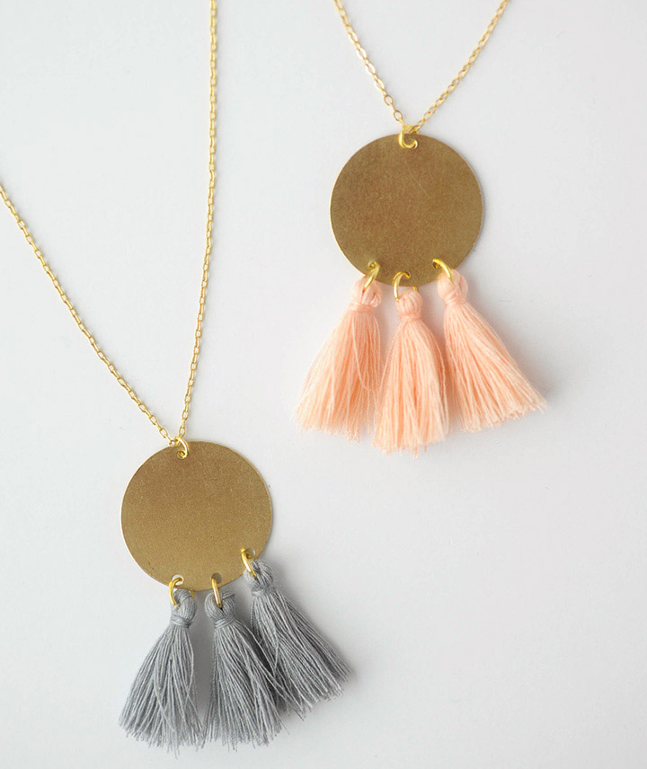 DIY Gold Tassel Necklace