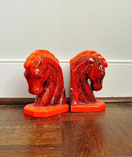 Colorful Horse Bookend