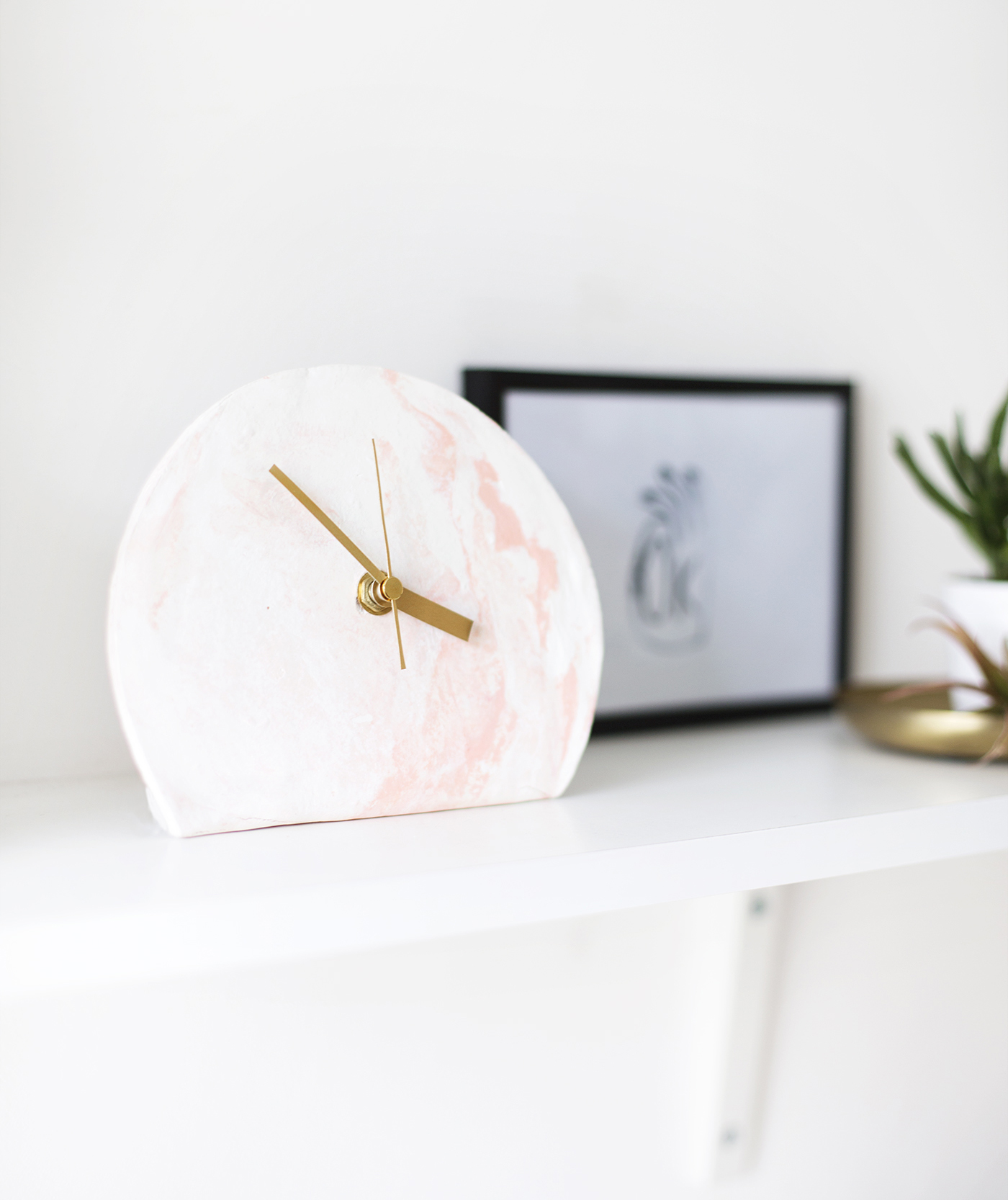 Marbled Clay Standing Clock