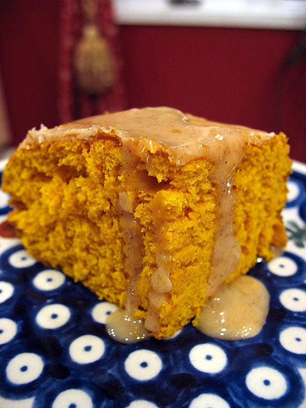 0d3c2a95cc6 Two-Ingredient Pumpkin Cake with Apple Cider Glaze
