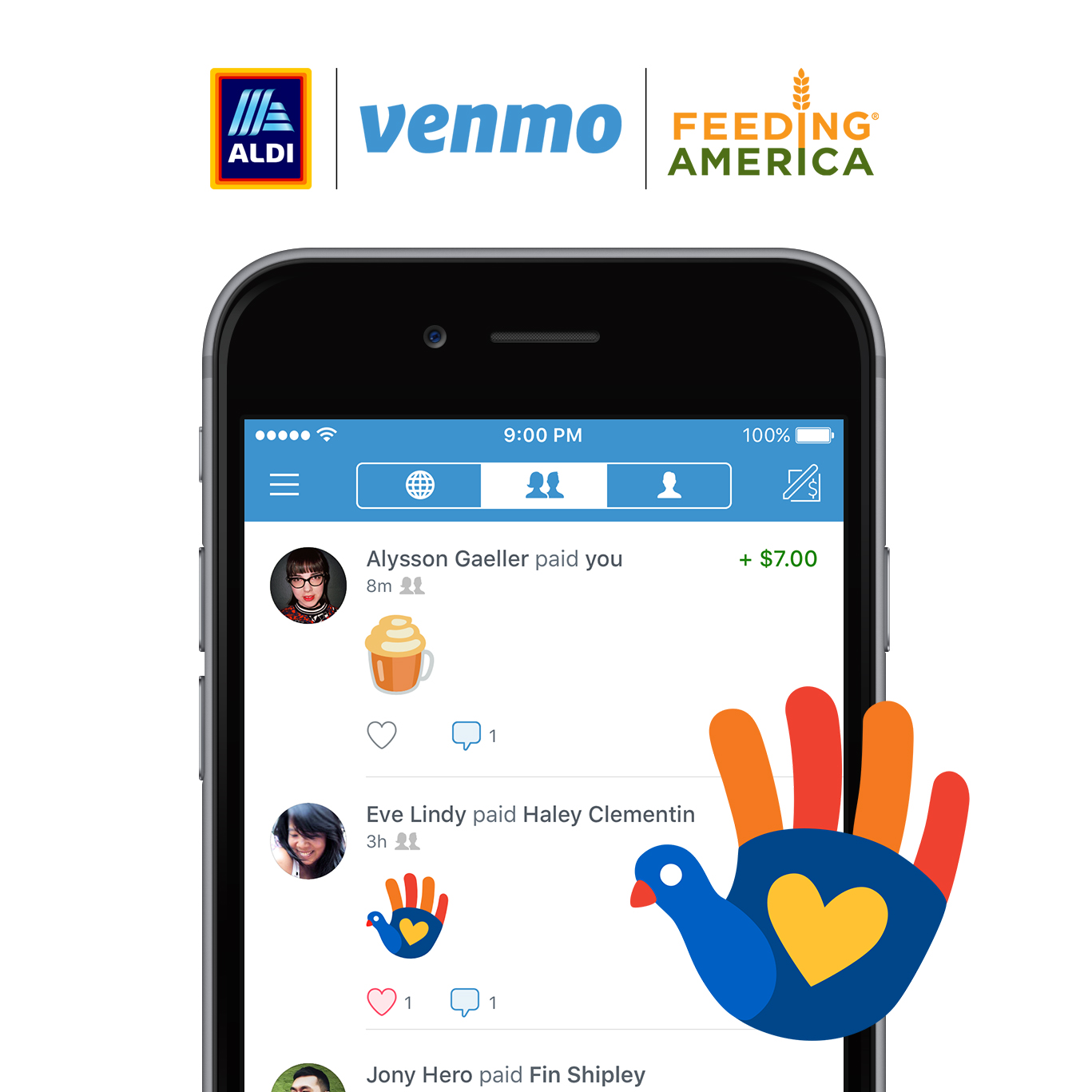 ALDI and Venmo Give One Million Meals with Just One Emoji