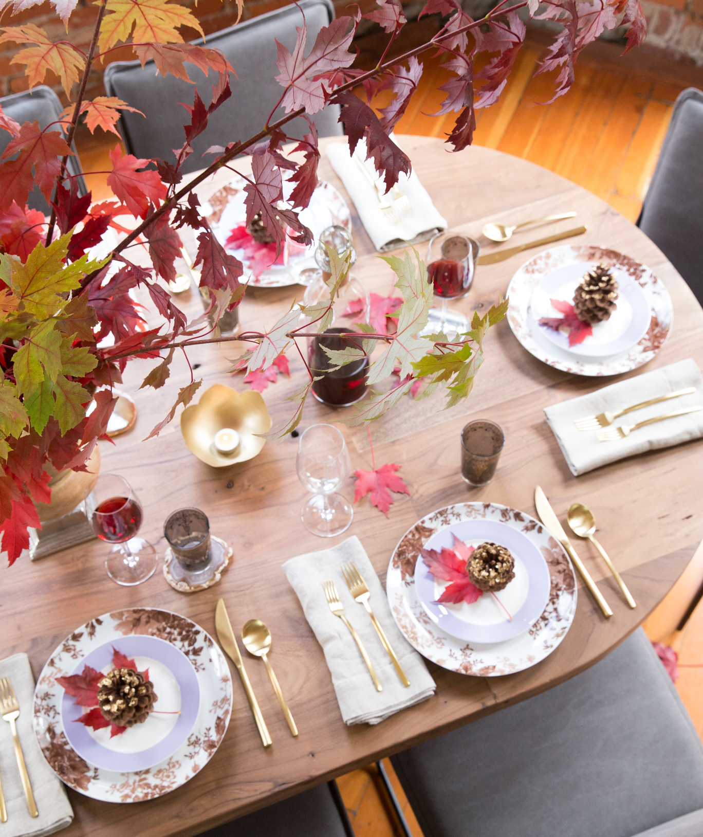 Stunning Fall Foliage Centerpiece