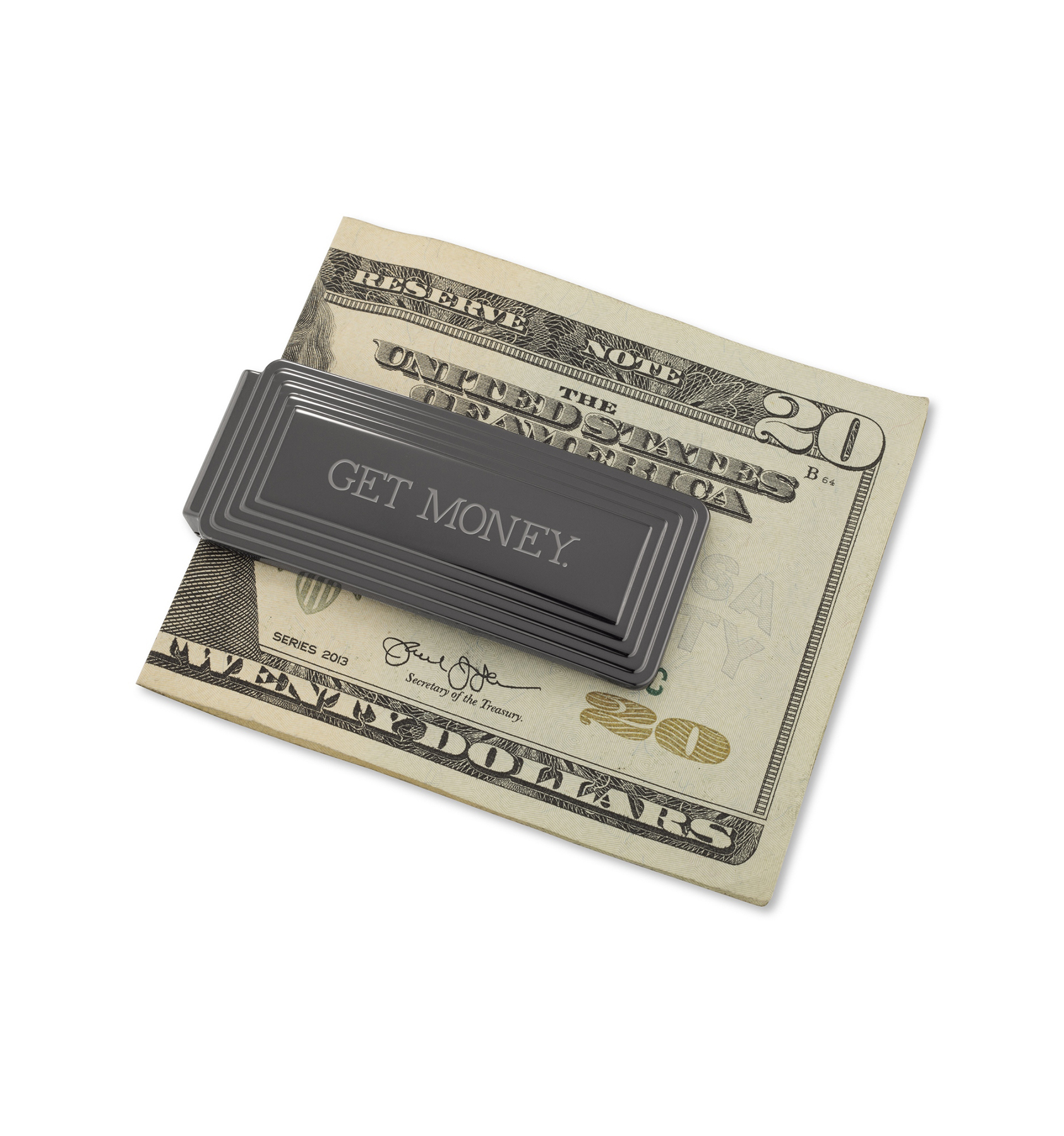 Gunmetal Step Money Clip