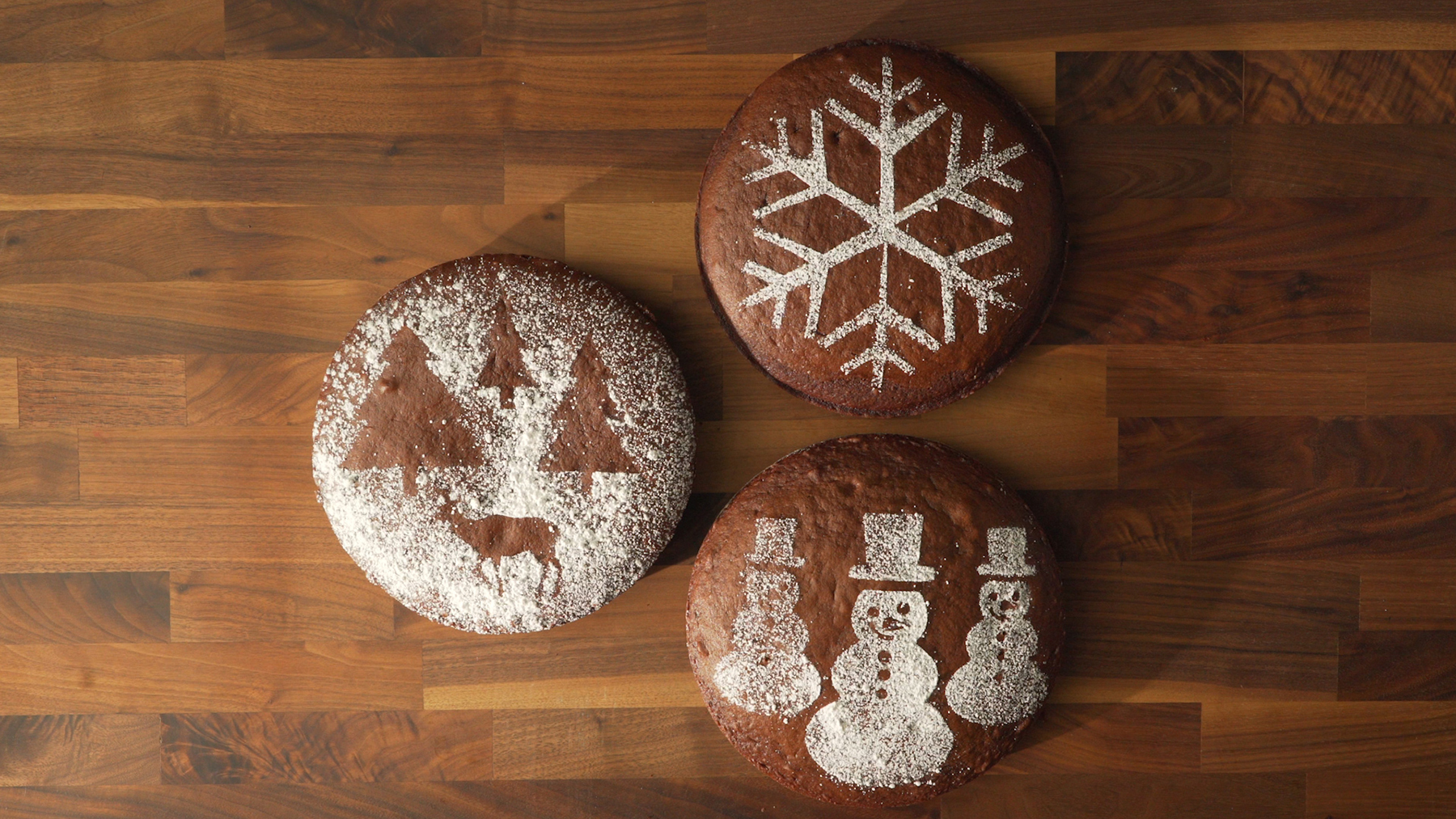 Holiday Cake Decorating Stencils