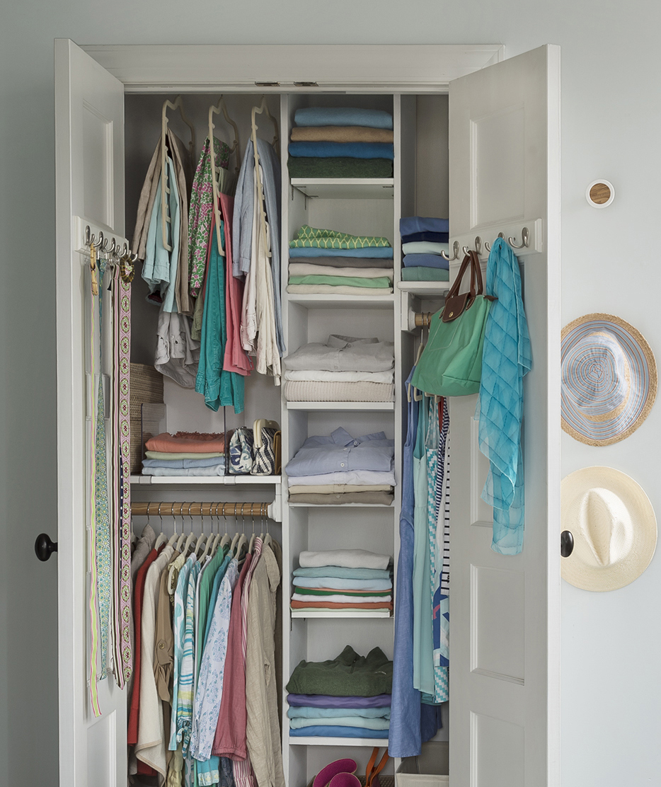 Closet with shelves
