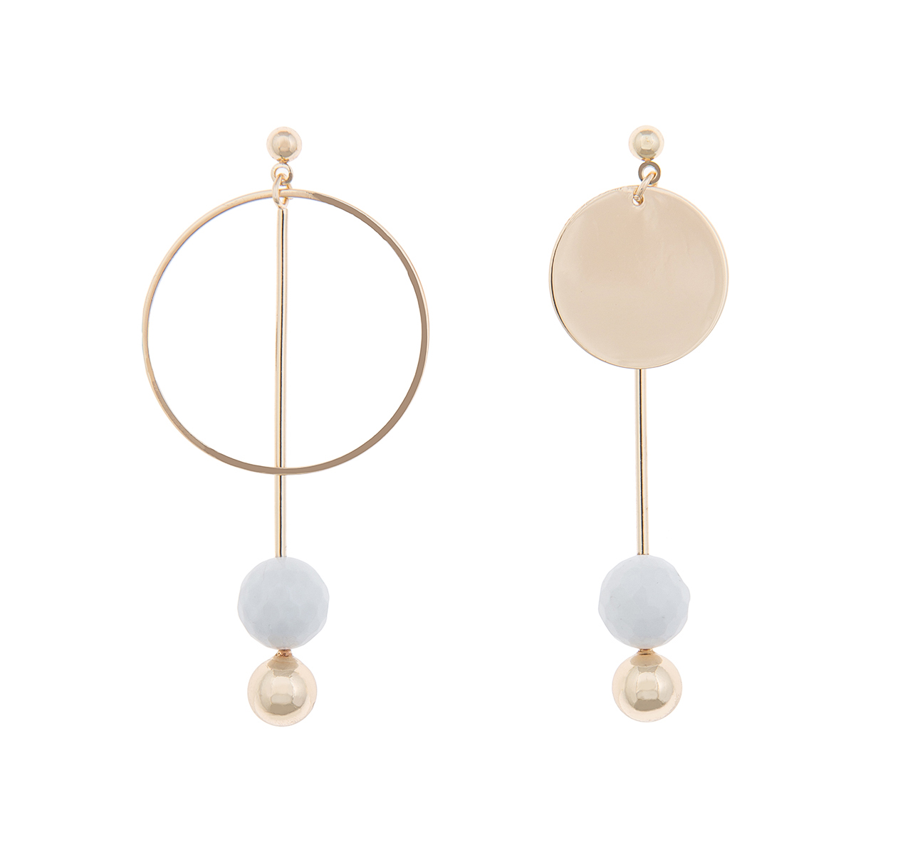 Round Drop Earring with Stone Orb