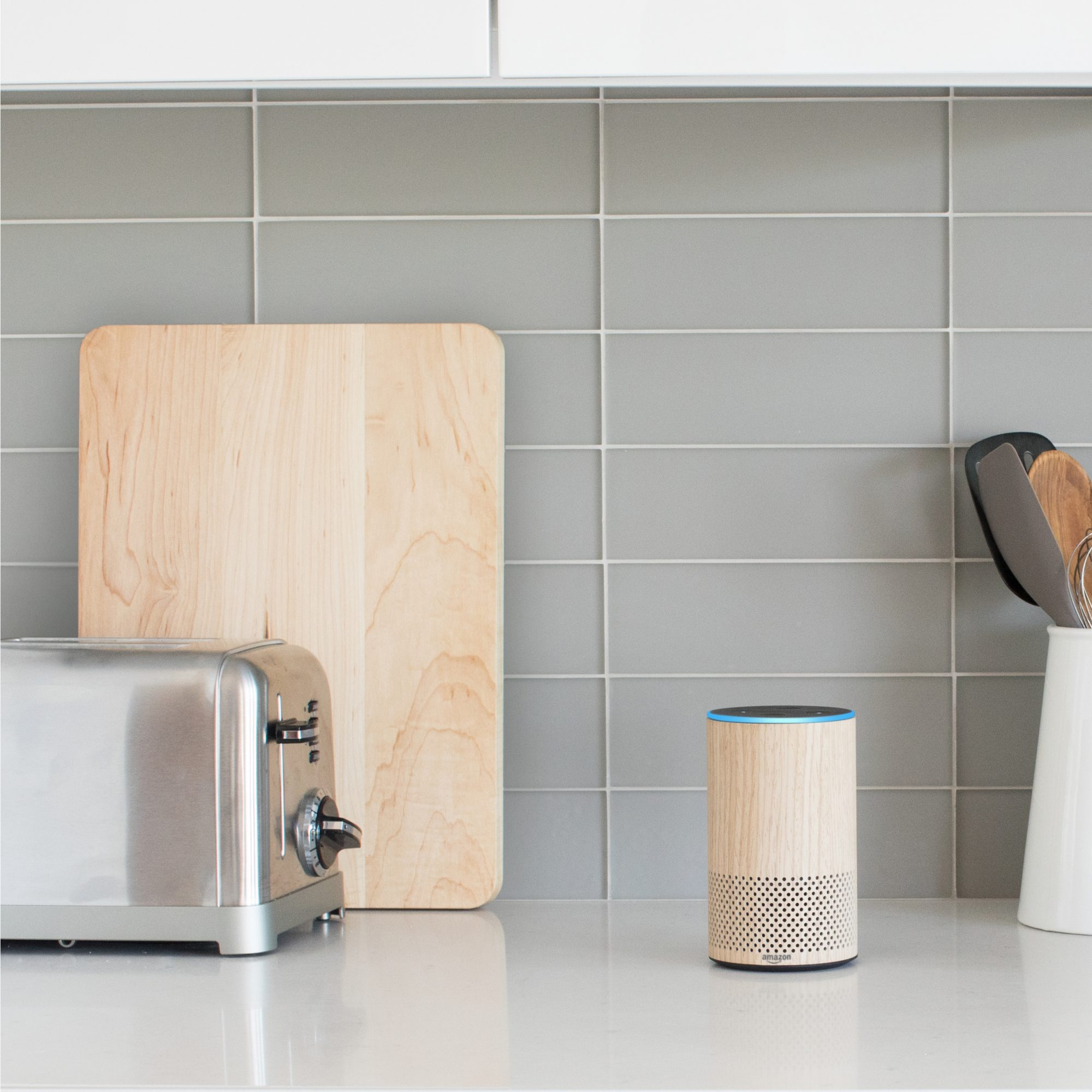 Amazon Echo on counter