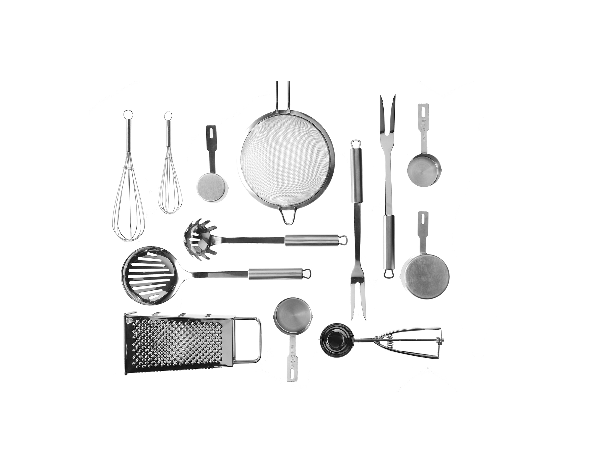Collage of kitchen tools