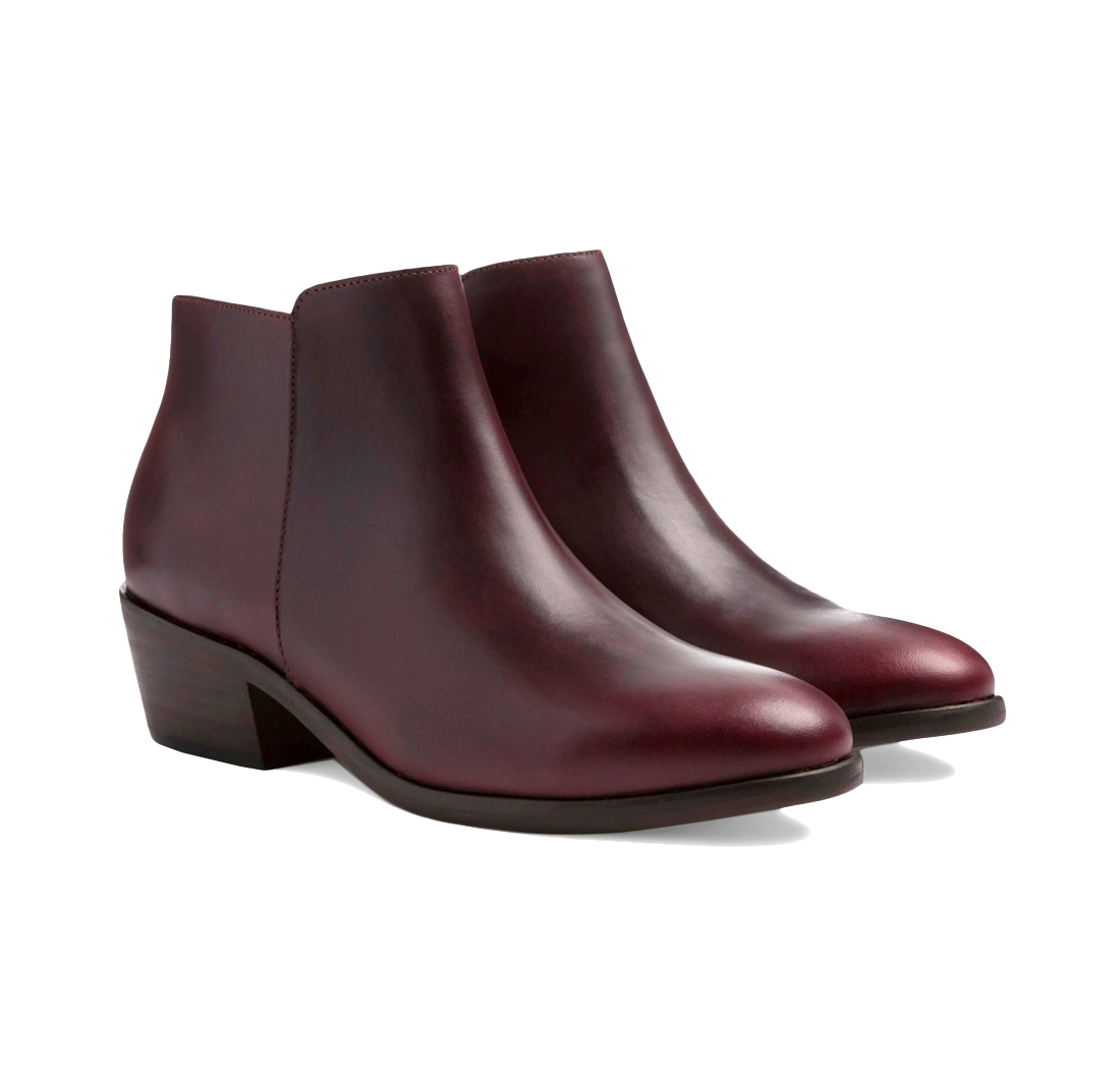 Downtown Burgundy Boots